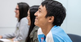 Students attending a workshop